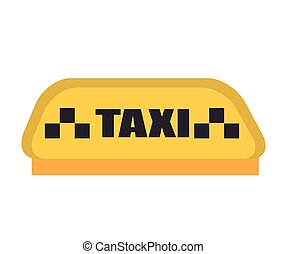 taxi sign yellow