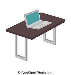 computer desk laptop