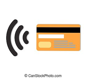 Wifi Pay - Contactless credit card vector.Wifi Mobile...