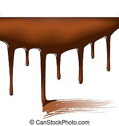Chocolate temptation - Editable vector illustration of...