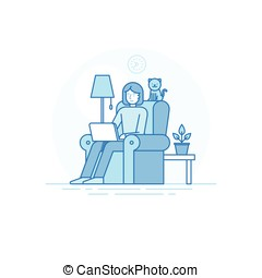 Home office and remote creative team member - outsource and...