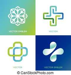 Vector set of abstract logos and emblems - alternative...