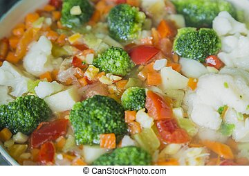 Vegetable Stew with selective focus