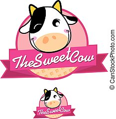 The Sweet Cow logo - logo for dairy-based food, beverage or...