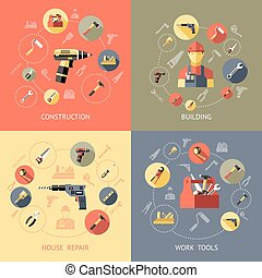 Work Tools Compositions - Work tools compositions or icon...
