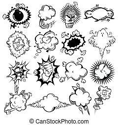 Comic Monochrome Speech Bubbles Collection