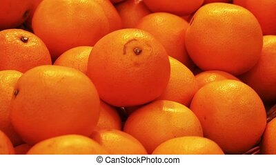 Fresh mandarin or oranges in the mall - Fresh mandarin or...