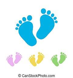 Fußabdruck Kind