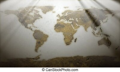 Rusty World Map HD Loop - High definition animated loop of a...