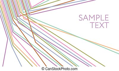 Multicolored lines abstract background. Electric wire