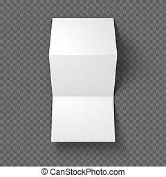 Trifold mockup on transparent background Vector Illustration...