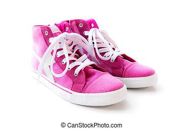 Pink woman sneakers