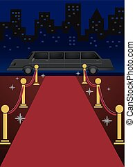 Red Carpet Limo - Illustration of a Length of Red Carpet...