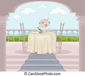 Outdoor Balcony Date