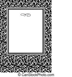 Vector Swirl Pattern and Frame - Vector decorative frame...