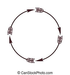 arrow circle border boho - arrow circle border frame boho...