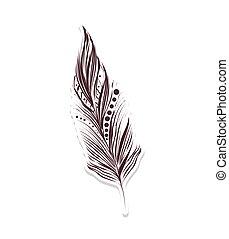 feather boho decoration - feather boho bird native indian...