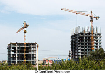 homes are being built in the city