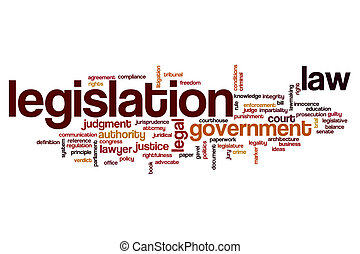 Legislation word cloud concept