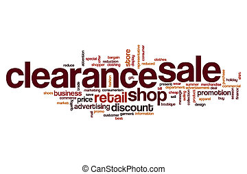 Clearance sale word cloud concept