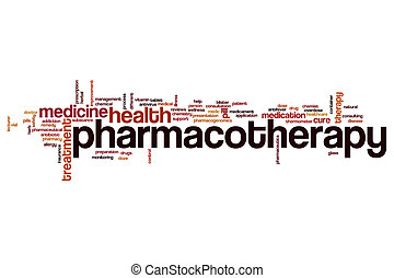 Pharmacotherapy word cloud concept