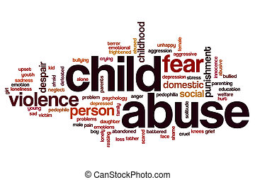 Child abuse word cloud concept