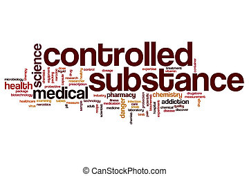 Controlled substance word cloud concept