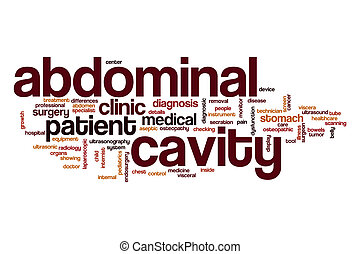 Abdominal cavity word cloud concept