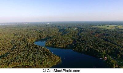 beautiful lake aerial view