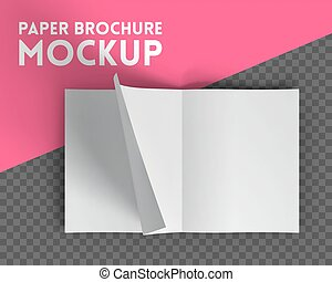 Magazine mockup on transparent background Vector...