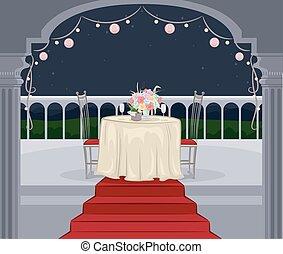 Outdoor Balcony Date Evening