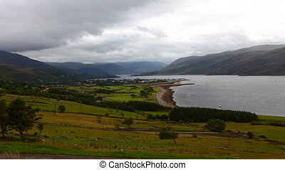 Timelapse over Ullapool in Scotland - A Timelapse over...