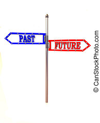 blank arrows directions. Future and past