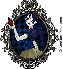 Halloween Snow White - Pretty girl wearing Halloween Snow...