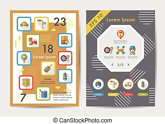 Traffic icons set with long shadow,eps10