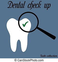 Dental check up - Icon check the teeth at the dentist, a...