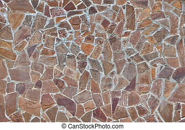 Modern Stone Wall Or Patio Floor Background Or Texture -...