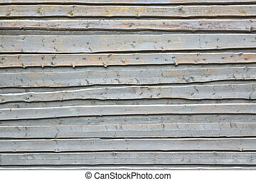 Light Blue Wood Wall Background From Unedged Overlapped...