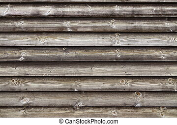 Close Up Of Unpainted Natural Weathered Textured Rustic...