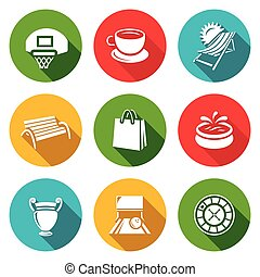 Vector Set of Recreation and Entertainment Icons -...