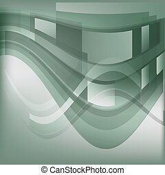 Bent rectangles abstract background