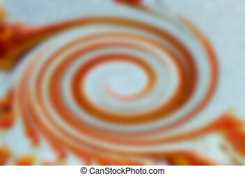 Abstract twirl motion blur background - Abstract red twirl...