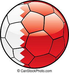 Bahrain flag on soccer ball - vector illustration of Bahrain...