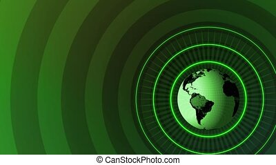 Revolving Globe Title HD Loop - High definition animated...