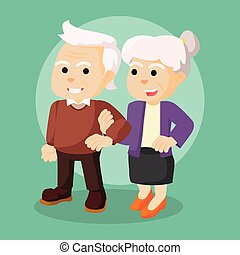 old couple holding hand each other