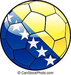 Bosnia and Herzegovina flag on ball - vector illustration of...