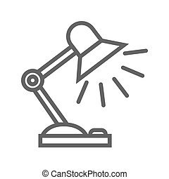 Reading-lamp flat icon - Reading-lamp thin line vector icon...
