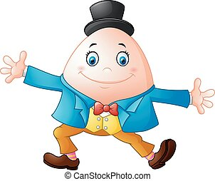 Humpty Dumpty cartoon - Vector illustration of Humpty Dumpty...