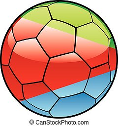 Eritrea flag on soccer ball - vector illustration of Eritrea...