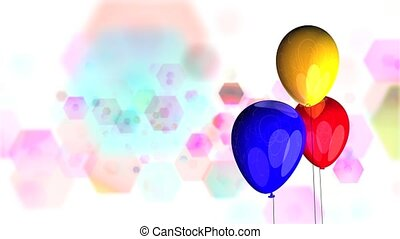 Revolving Balloons HD Loop - High definition animated loop...